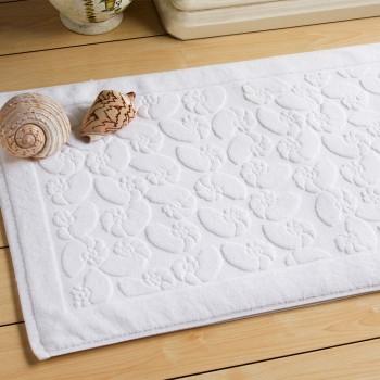 Tapete de banho jacquard em algodão