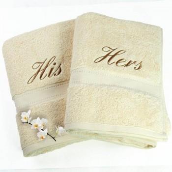 Toalha de banho com bordado