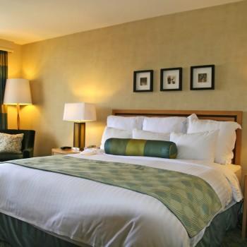 Duvet cover, flat sheet, pillow cases in sateen stripe, under sheet and pillow cases in plain, bed runner – jacquard, decorative pillows