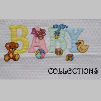 Baby Coordinated - Embroidered, Bedspread-Embroidered, Bed Sheet Set - Embroidered, Hooded Towel - Embroidered