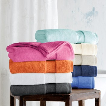 Bath towels with jacquard border