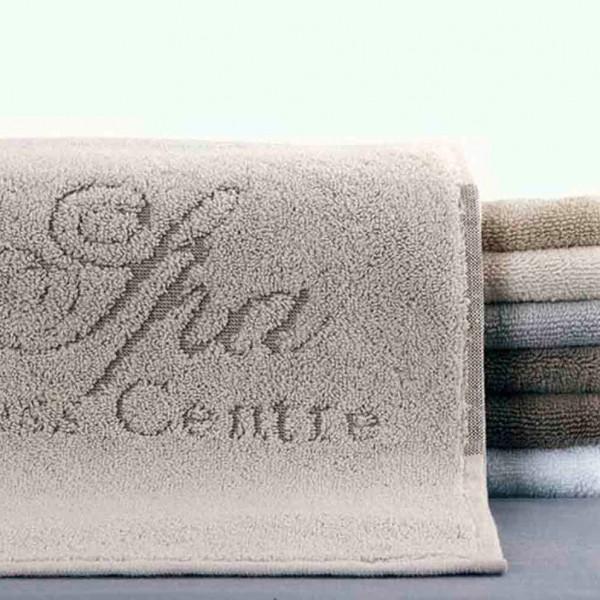 Toalla de spa jacquard con logo