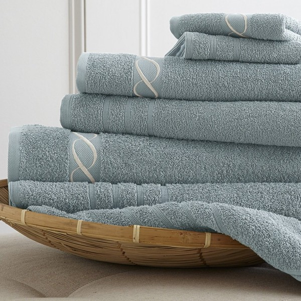 Bath towels with embroidered jacquard border, bath towel with jacquard border