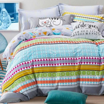 Duvet Cover - Printed, Pillow Cases, Decorative Pillows, Flat Sheet- Printed, Fitted Sheet
