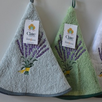 Terry kitchen towels, round and embroidered