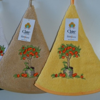 Terry kitchen towels round and embroidered