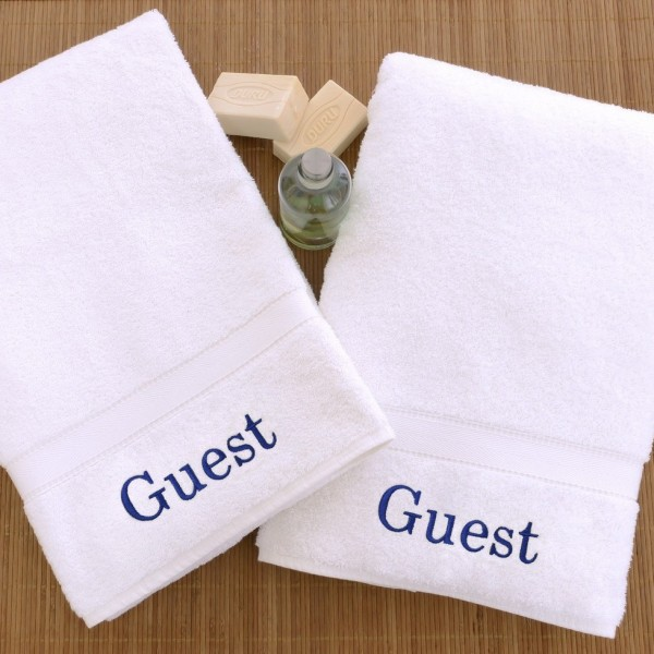 Guest towel embroidered