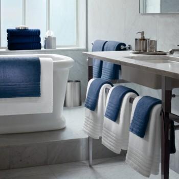 Toalha de banho com barra jacquard