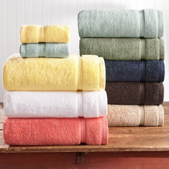 Bath towels, face towels, guest towels in terry