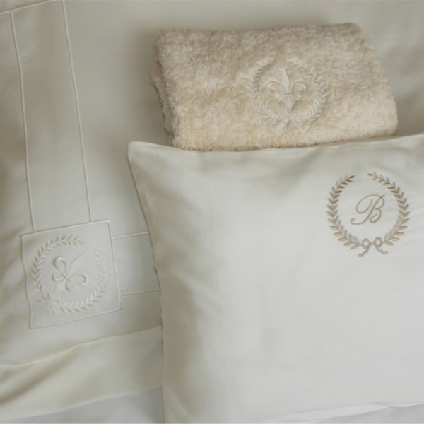 Pillow case model Oxford – embroidered, decorative pillow – embroidered, guest towel - embroidered