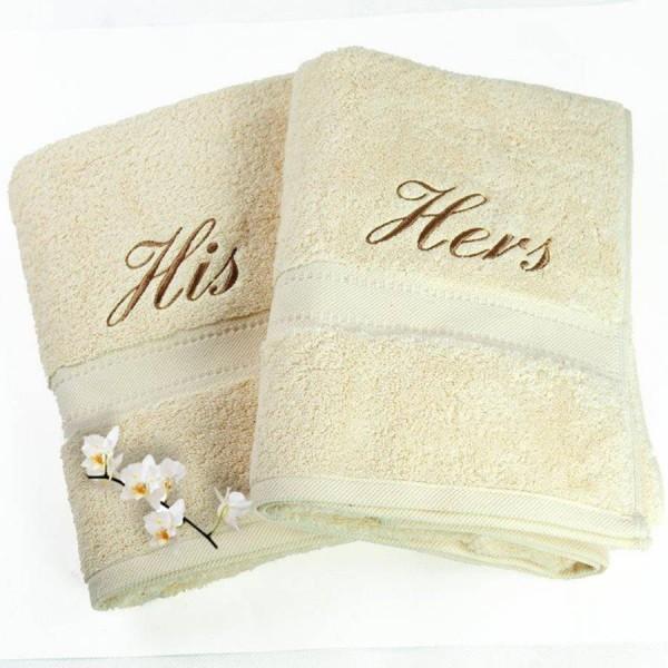 Toallas de baño en rizo 100% algodón con cenefa jacquard de algodón ton / ton. Personalizada con bordados. Varios tamaños y colores.
